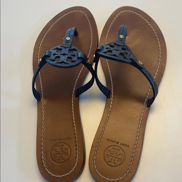 Tory Burch Shoes | Navy Blue Logo
